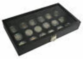 18 COIN HOLDER Clear DOLLAR Case Storage display JAR TRAY BOX  pocket wa... - $39.95