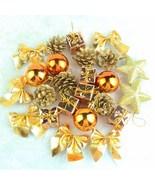 24 pcs Christmas Tree Hanging Pendant Drops Ornaments Christmas Party De... - $9.85
