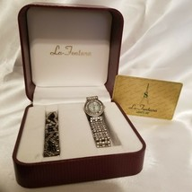 Vintage La Fontana Swiss Quartz Analogue Water Resistant Ladys Watch & Bracelet - $62.36
