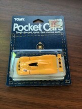 Vintage Tomy Pocket Cars yellow Cibie Harada Collection Unused on Card - $59.40