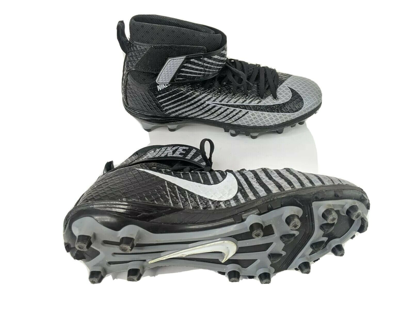 Primary image for Nike Skin Mens US 11 EUR 45 Black Gray Lunar Beast Football Cleats