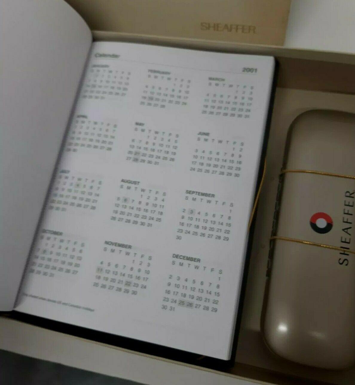 Sheaffer Rollerball Pen America Store Notebook Set 2001-2013 Calendars White Dot