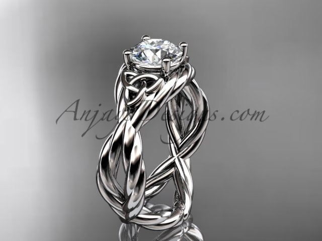 Eltic knot engagement rings  rope ring  diamond engagement ring  forever brilliant moissanite  1