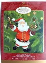 HALLMARK 2000 JINGLE BELL KRINGLE KEEPSAKE COLLECTOR'S CLUB BRASS BELL - $5.94