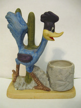 ROADRUNNER Figurine Vintage 1980 TOOTHPICK HOLDER Bisque WARNER BROS INC... - $15.99