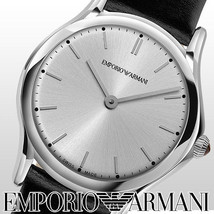 NWT Emporio Armani Women's Swiss Black Leather Strap Watch 28mm ARS7013 ... - $135.99