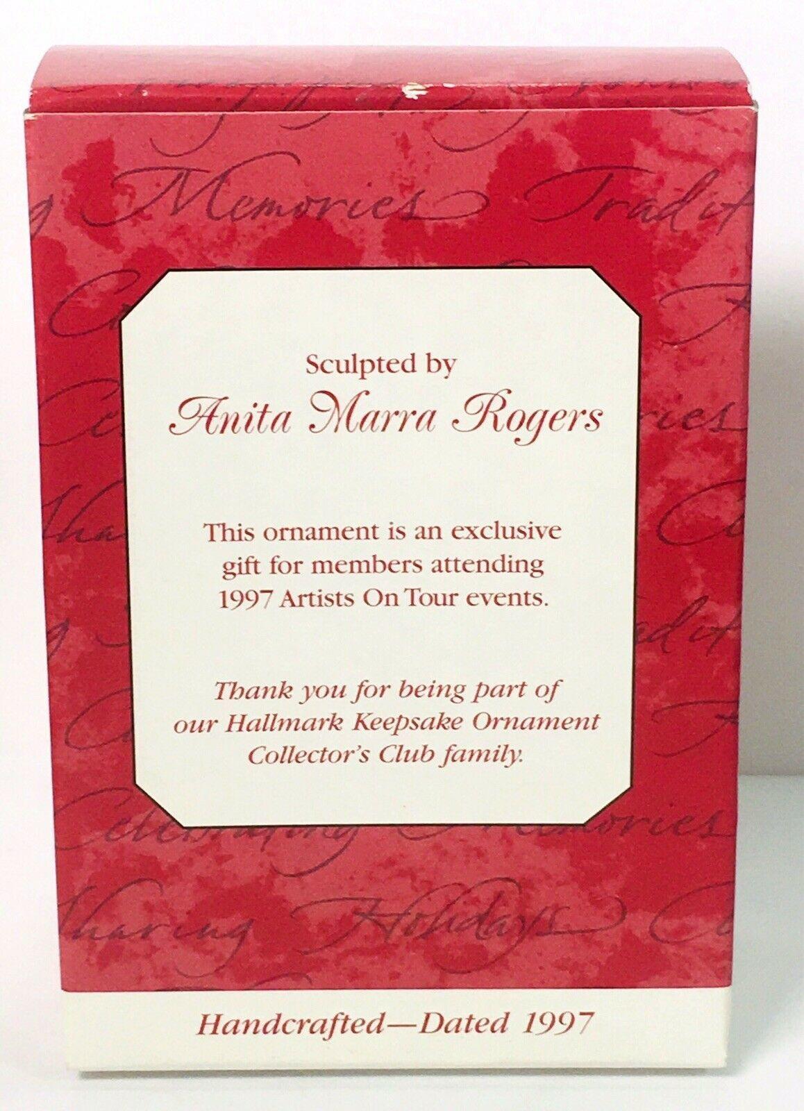 Hallmark Keepsake Ornament 1997 Artists on Tour First Class Thank You Red Bird image 4