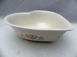 "Pfaltzgraff Tea Rose pattern - Heart shaped, serving Bowl - 8 1/4"" wide - EUC - $7.91"
