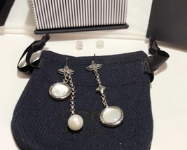 BNIB AUTHENTIC APM MONACO Asymmetric Eternelle Dropping Earrings With Pearl  image 11