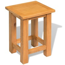 "vidaXL End Table Solid Oak 10.6""x9.4""x14.6"" - $38.99"