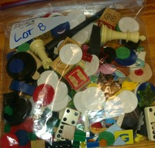 one pound toy game piece token junk drawer Lot B mixed media art - $17.81