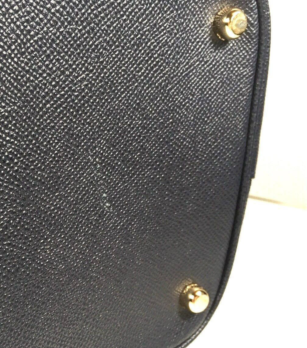 Coach Kitt Carryall Tote Navy Blue Crossgrain Leather Gold Tone HW with Dustbag image 9