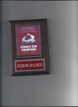 Colorado Avalanche Banner Plaque Stanley Cup Champions Champs Hockey Nhl - $3.95
