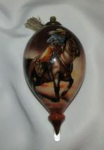 Gotta Run Ornament Cowgirl Inner Beauty Reverse Painted Glass New No Box... - $46.52