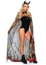 Glitter Flame Devil Cape and Devil Horns 2-Piece Costume by Leg Avenue™ - $33.20