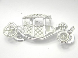 AJC Fabulous OLD Car Figural Rhinestones Vintage Jewelry Pin - $14.39