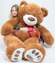 5 Foot Very Big Smiling Teddy Bear 60 Inch Soft Brown Giant Stuffed Animal with  - $136.20