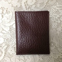 Brown Cowhide Leather Credit Card- ID Bills, Wallet Organizer 5in x 4in - $7.55