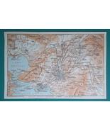 GREECE Environs of Athens Piraeus Kalivia Menidi - 1911 MAP - $30.60