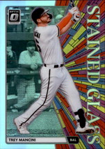 Trey Mancini 2020 Donruss Optic Holo Stained Glass Card #SG-3 - $2.00