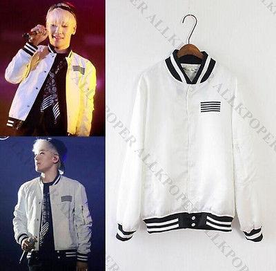 Kpop Bigbang G-Dragon Coat Made The Full TWO-SIDE Jacket Baseball Uniform VIP