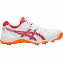 Asics Gel Cricket Shoes Gully 5 For Men  Size  UK 9  White/Red Alert - $176.89