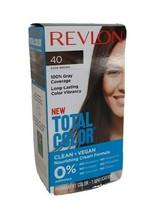 NEW Revlon Total Color Hair Dye 40 Dark Brown 100% Grey Coverage PERMANE... - $6.92