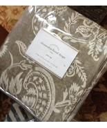 Pottery Barn Set 2 Alessandra Drape Charcoal Gray 96 Floral Curtains Pol... - $258.00