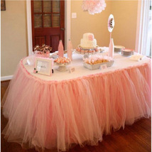Any Color TABLE TUTU Skirt Rainbow Table Tulle Skirt Tutu Tulle Table Decoration image 9