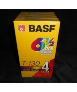4 BRAND NEW VINTAGE BASF BLANK VIDEO CASSETTE VCR RECORDABLE TAPES T-130... - $18.70