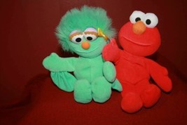 "2 Vintage Tyco 1997 Sesame Street Jim Henson ELMO and ROSITA Beanbag 7"" ... - $12.08"