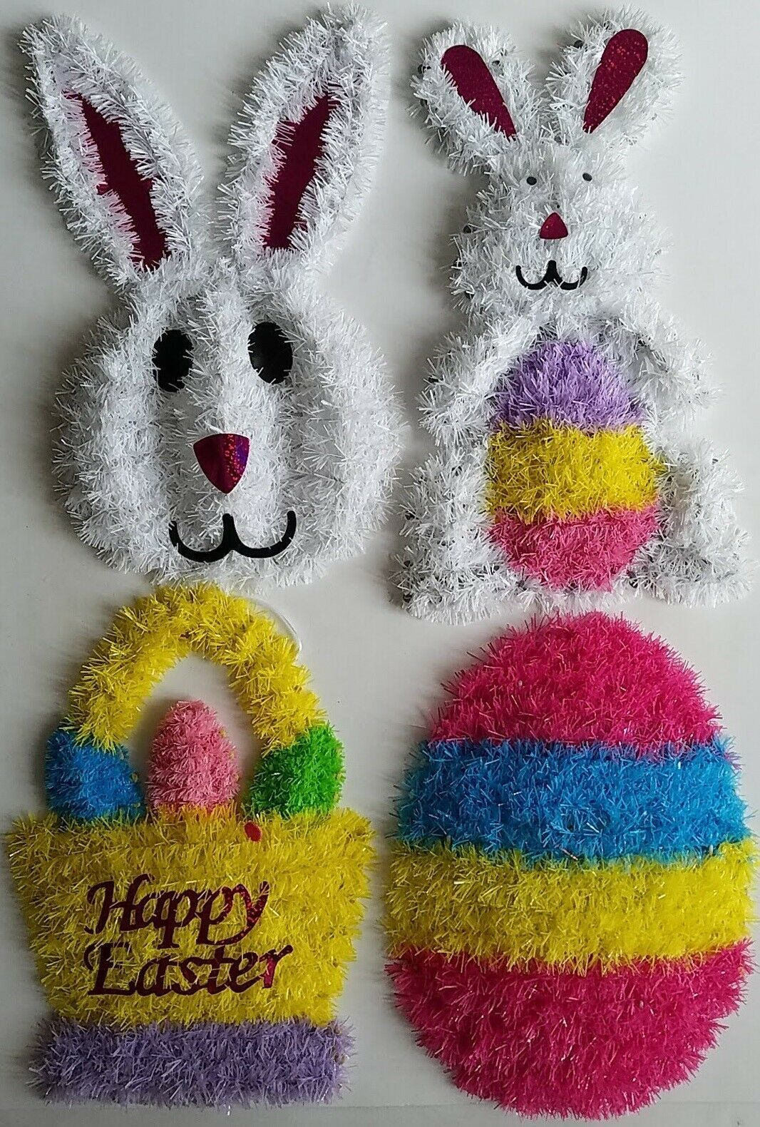 "Primary image for Easter Tinsel Wall Decor 14""H x 9""W x 1""D, Select: Design"