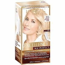 L'Oreal Excellence Age Perfect 10G Very Light Soft Golden Blonde Hair Color - $19.99