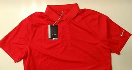 Nike Golf Standard Fit Red DRI-FIT Men's Golf Rugby Polo 725518 657 $55 Sale!!! - $13.99