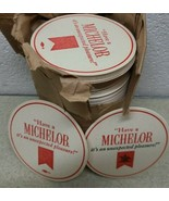 Vtg Michelob Double Sided Cardboard Beer Coasters Lot of 50+ pc - New - $24.64
