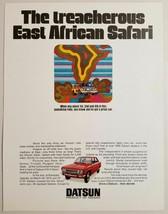 1971 Print Ad Datsun 4-Door Car East African Safari Pop Art Looks Like P... - $11.56
