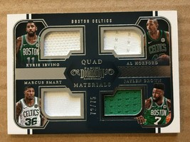 2018-19 Panini Dominion Jaylen Brown #2 72/75 Quad Materials Boston Celt... - $14.99