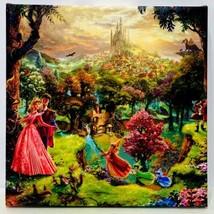 Thomas Kinkade Disney Sleeping Beauty 14″ x 14″ Gallery Wrapped Canvas W... - $59.95