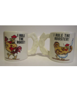 Vintage Novelty Coffee Mugs Cups, I Rule the Roost, I Rule the Rooster, ... - $14.99