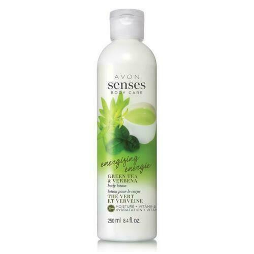 Primary image for NEW DISCONTINUED Avon Senses Energizing Green Tea  Verbena Body Lotion 8.4 FL OZ