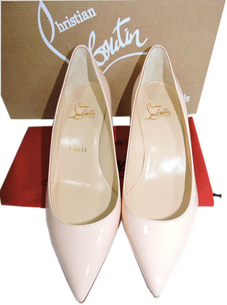 Christian Louboutin Pigalle Follies Patent-Leather Pointy Toe Pumps Shoes 35.5