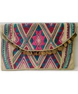 Target Limited Edition Clutch Purse Embroidered Boho Gold Disks 2012 Hippie Club - $25.19