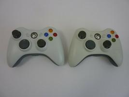 Lot of 2 - GENUINE Microsoft Xbox 360 Wireless Controller White - Free US Ship - $49.45