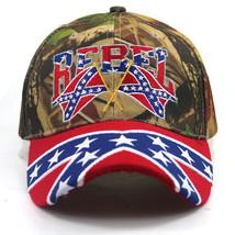 Racing Flag Cap Mens REBEL 3D Embroidery Hat Motorcycle Strapback Adjust... - $9.99