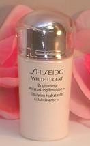 New Shiseido White Lucent Brightening Moisturizing Emulsion .5 oz / 15 ml - $15.99