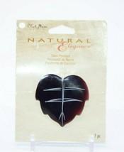 Blue Moon Beads Natural Elegance Black Tortoise Leaf Shell Pendant NOS - $9.89