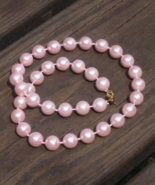 Cotton Candy Pink Faux Pearl Necklace - $0.00