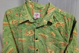 Reyn Spooner Trader Joe's Employee Green 2007 Hawaiian Mens Shirt XL Lon... - $39.47