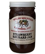 STRAWBERRY RHUBARB JAM - 100% All Natural Preserves Amish Homemade Summe... - $6.90+