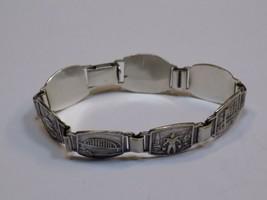 Silver Metal Charm Bracelet Vintage Windmill Ship Bridge Schonenberg? Belgium?  - $24.99